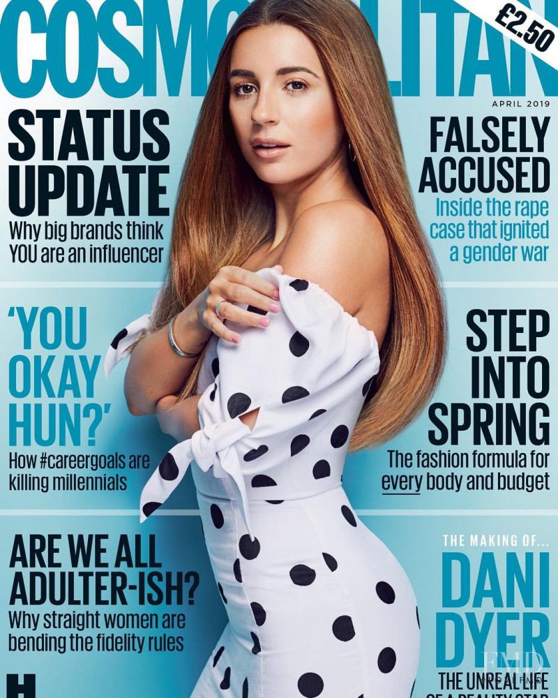 Dani Dyer featured on the Cosmopolitan UK cover from April 2019