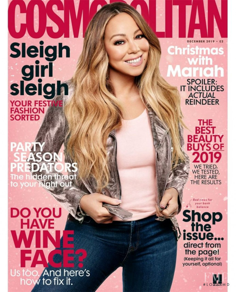 Mariah Carey featured on the Cosmopolitan UK cover from December 2019