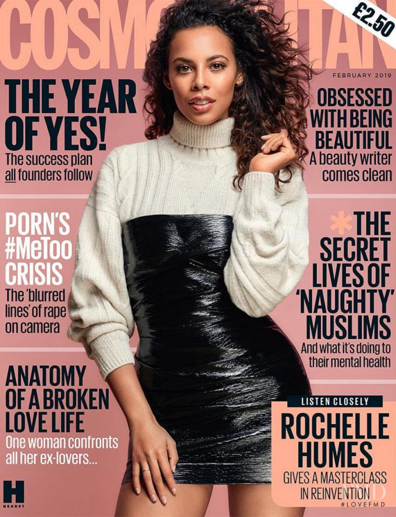 Rochelle Humes   featured on the Cosmopolitan UK cover from February 2019