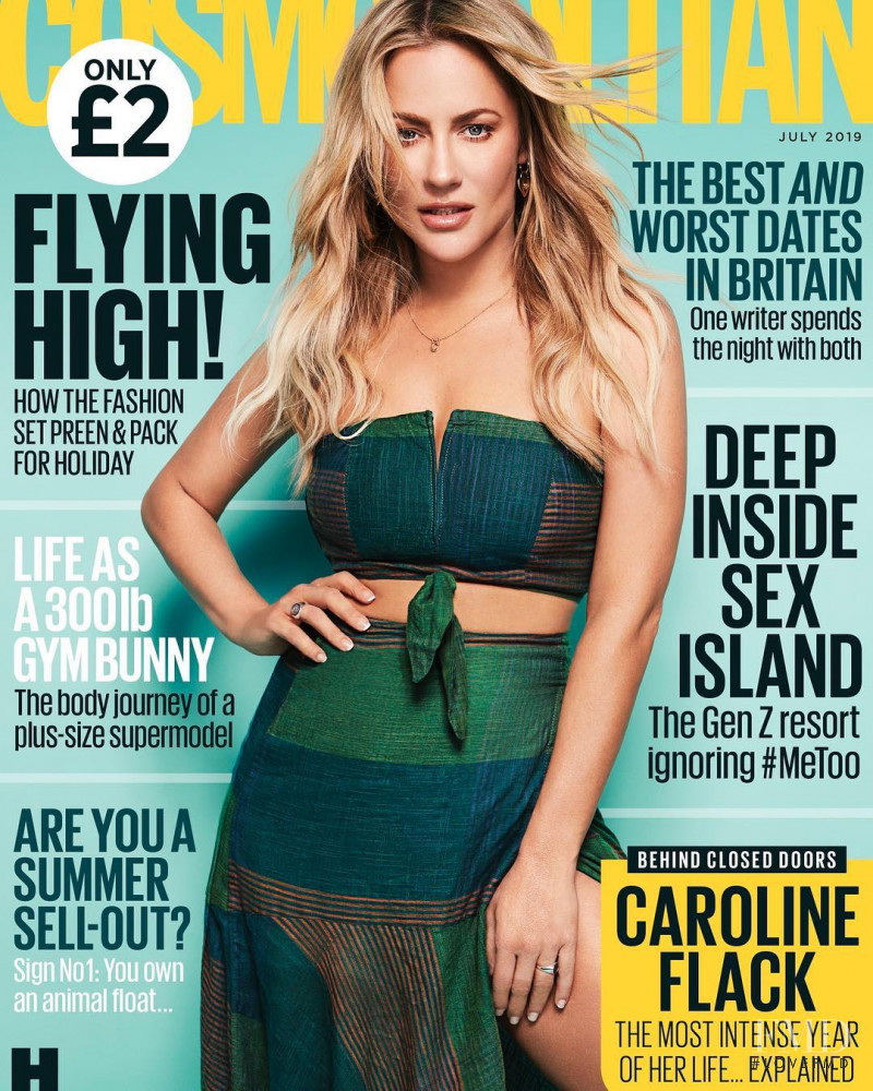 Caroline Flack featured on the Cosmopolitan UK cover from July 2019