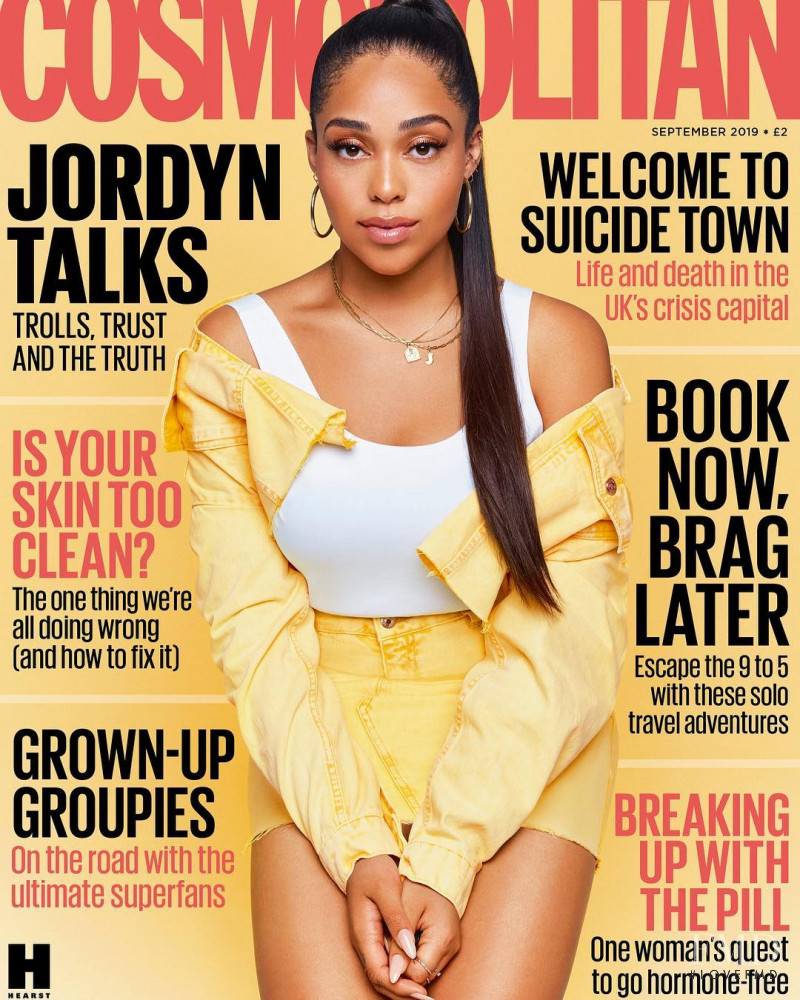 Jordyn Woods featured on the Cosmopolitan UK cover from September 2019