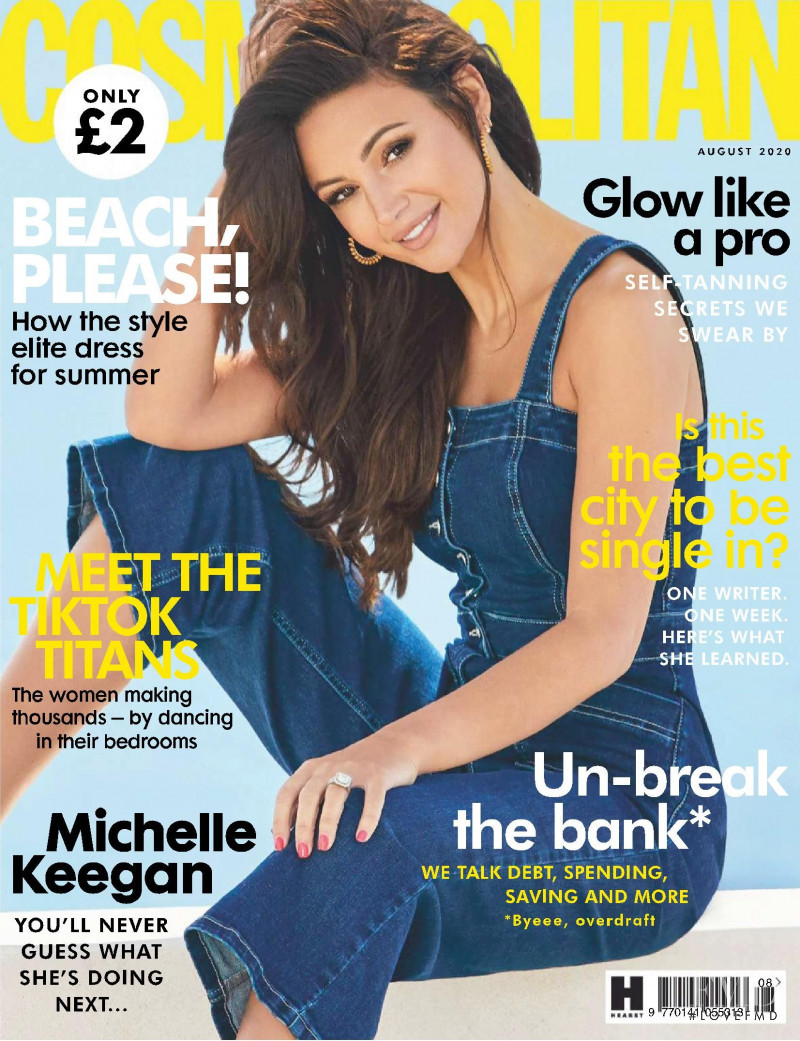 Michelle Keegan featured on the Cosmopolitan UK cover from August 2020