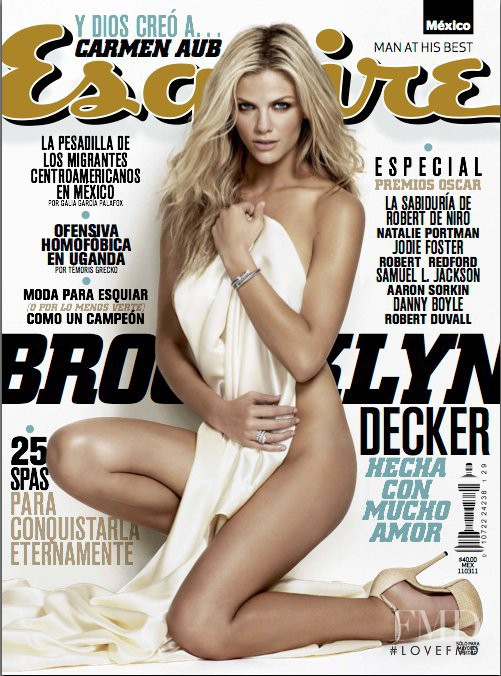 Brooklyn Decker featured on the Esquire Mexico cover from February 2011