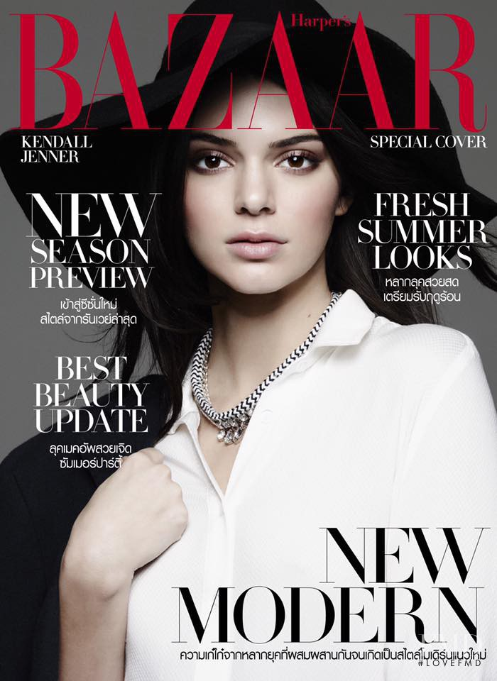 Kendall Jenner featured on the Harper\'s Bazaar Thailand cover from February 2016