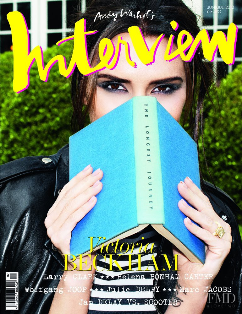 Victoria Beckham featured on the Interview Germany cover from June 2012