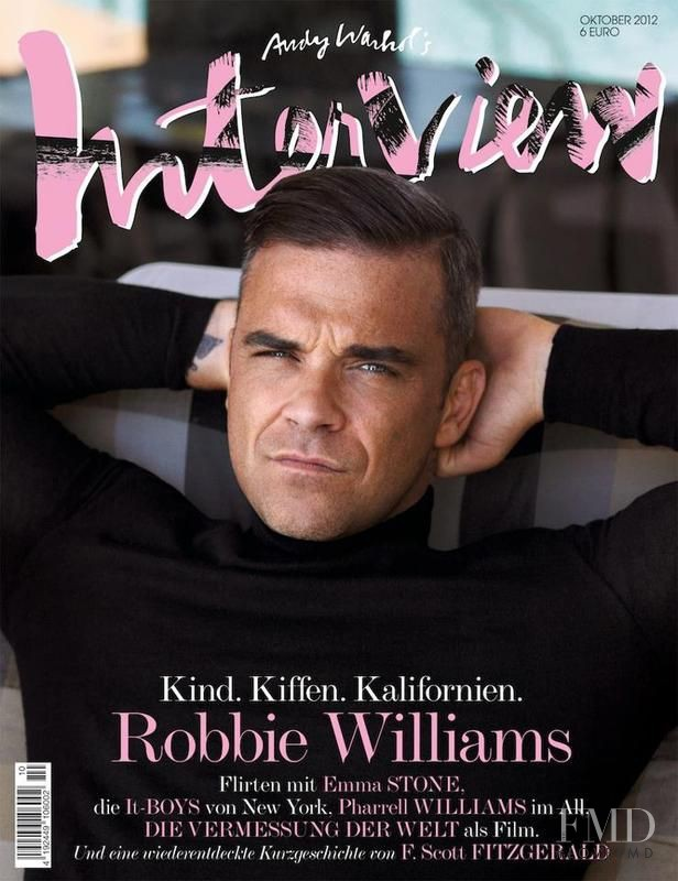 Robbie Williams featured on the Interview Germany cover from October 2012