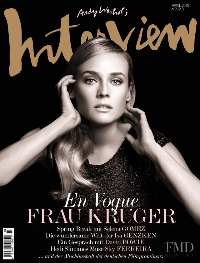 Diane Heidkruger featured on the Interview Germany cover from April 2013