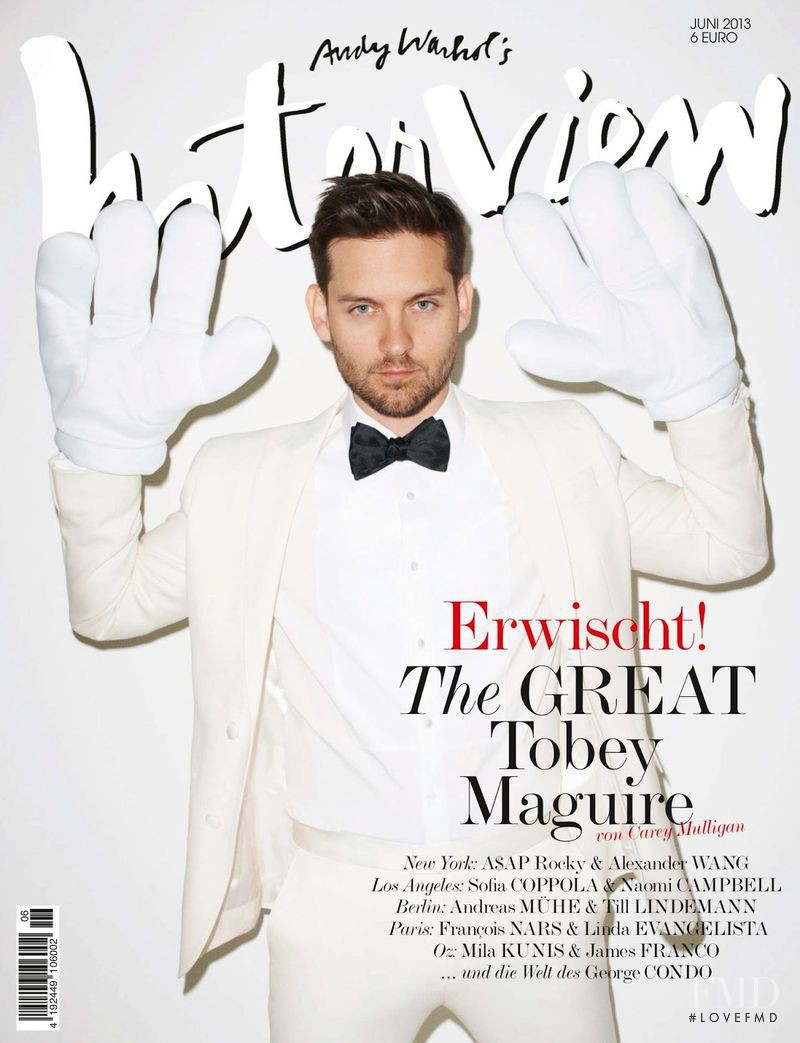 Tobey Maguire featured on the Interview Germany cover from June 2013