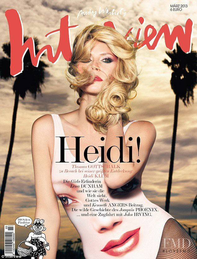 Heidi Klum featured on the Interview Germany cover from March 2013