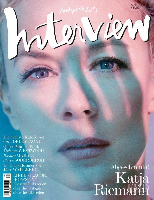Katja Reimann featured on the Interview Germany cover from May 2013