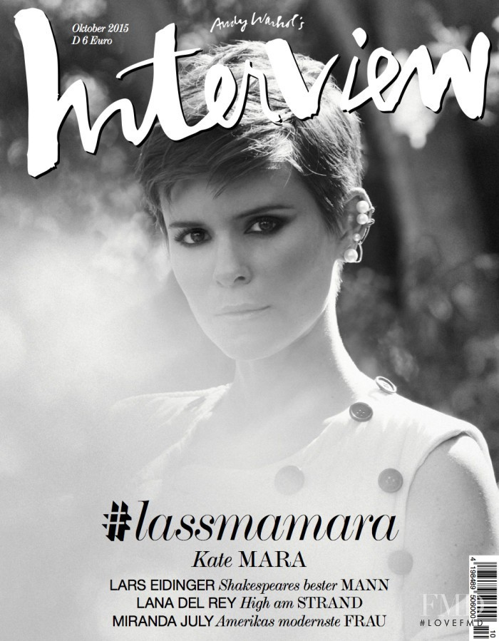 Kate Mara featured on the Interview Germany cover from October 2015