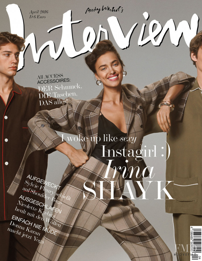 Irina Shayk featured on the Interview Germany cover from April 2016