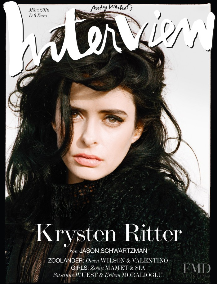 Krysten Ritter featured on the Interview Germany cover from March 2016