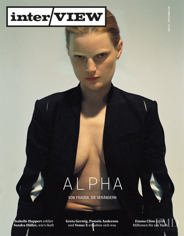 Guinevere van Seenus featured on the Interview Germany cover from September 2016