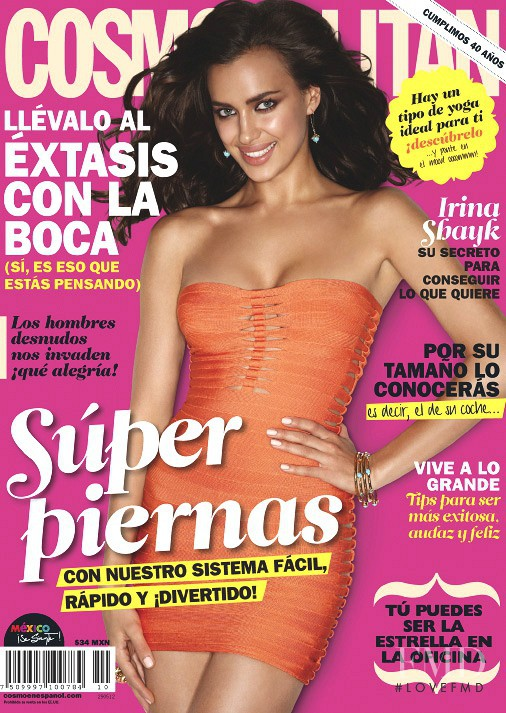 Irina Shayk featured on the Cosmopolitan Mexico cover from May 2012