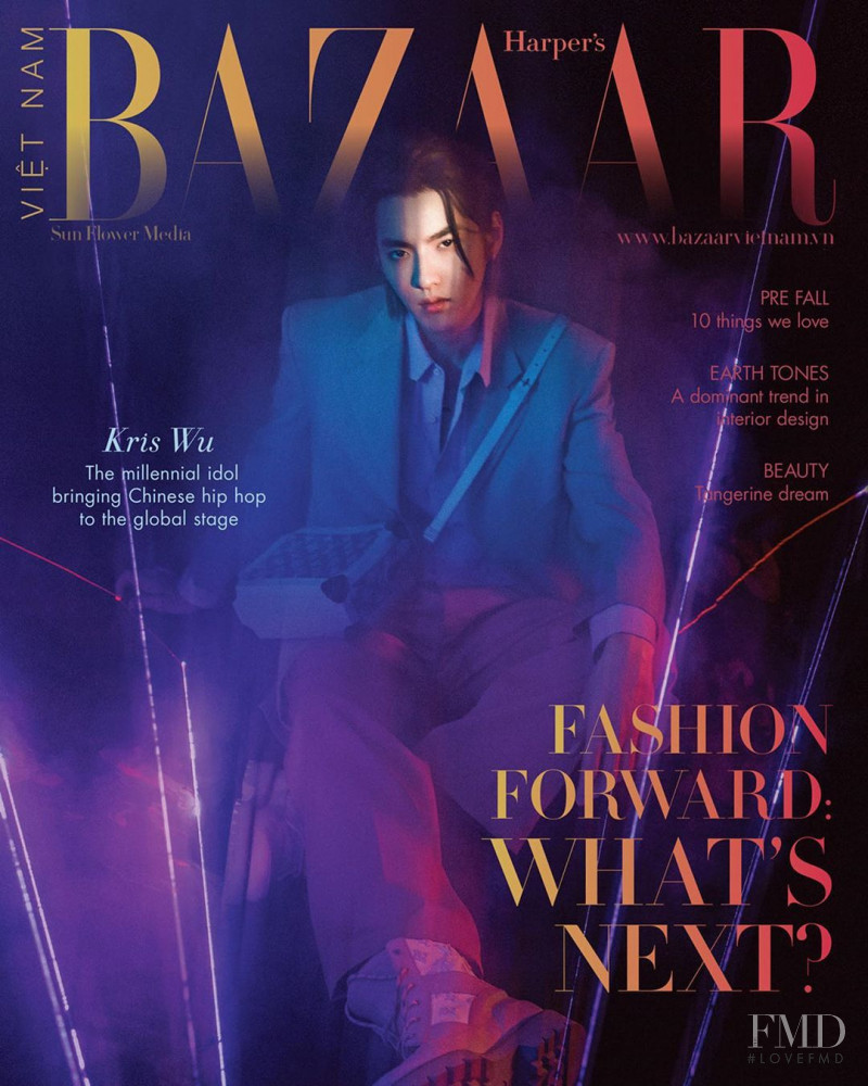 Kris Wu featured on the Harper\'s Bazaar Vietnam cover from August 2020