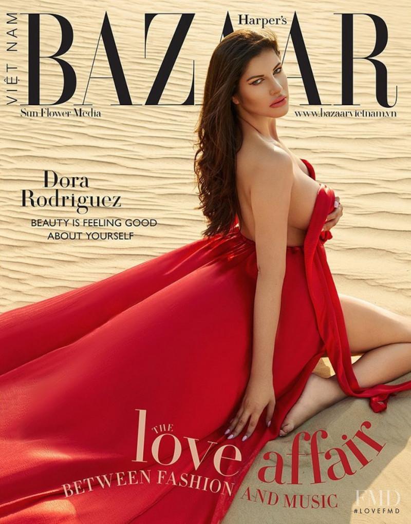 Dora Rodriguez featured on the Harper\'s Bazaar Vietnam cover from August 2020