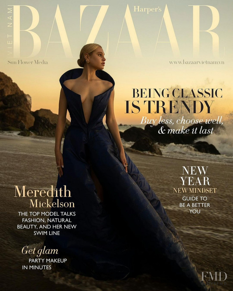 Meredith Mickelson featured on the Harper\'s Bazaar Vietnam cover from December 2020