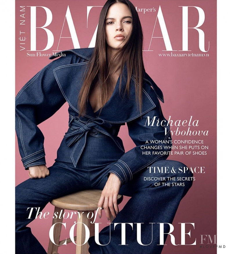 Michaela Vybohova featured on the Harper\'s Bazaar Vietnam cover from July 2020