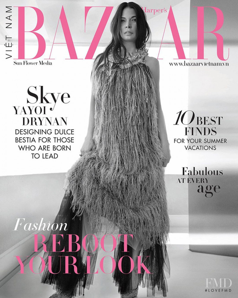 Skye Yayoi Drynan featured on the Harper\'s Bazaar Vietnam cover from June 2020