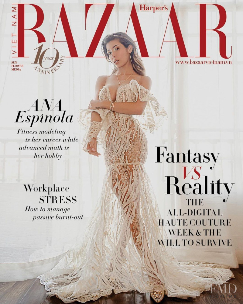 Ana Espinola featured on the Harper\'s Bazaar Vietnam cover from February 2021