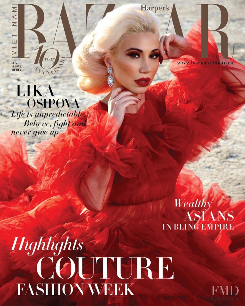 Lika Osipova  featured on the Harper\'s Bazaar Vietnam cover from February 2021