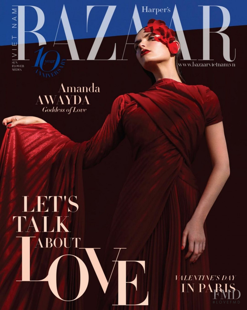 Amanda Nicole Awayda featured on the Harper\'s Bazaar Vietnam cover from January 2021