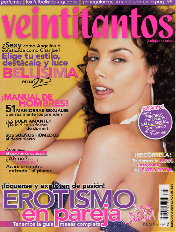 Consuelo Guzman featured on the Veintitantos cover from June 2006