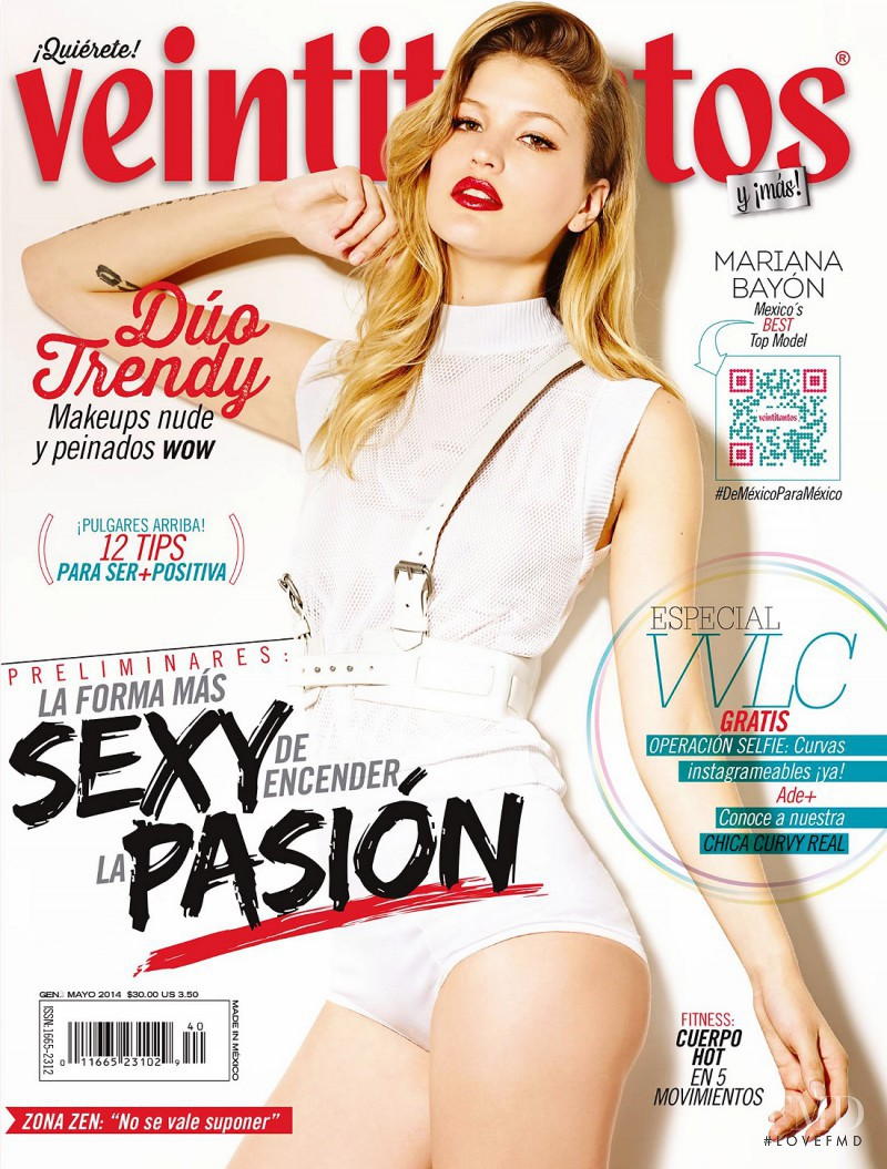 Mariana Bayon featured on the Veintitantos cover from May 2014