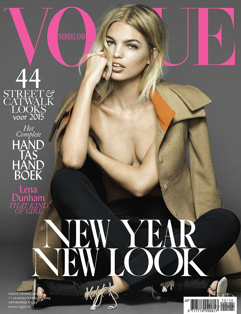 Daphne Groeneveld featured on the Vogue Netherlands cover from January 2015