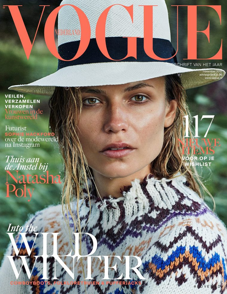 Natasha Poly featured on the Vogue Netherlands cover from November 2017
