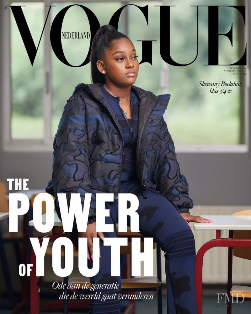 featured on the Vogue Netherlands cover from October 2020