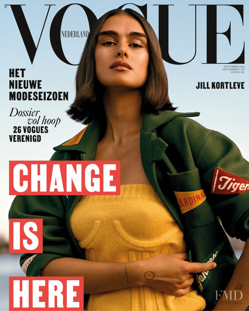 Jill Kortleve featured on the Vogue Netherlands cover from September 2020