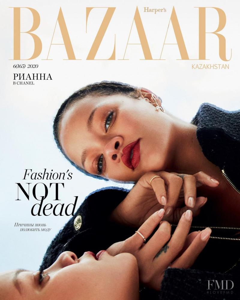 Rihanna featured on the Harper\'s Bazaar Kazakhstan cover from September 2020