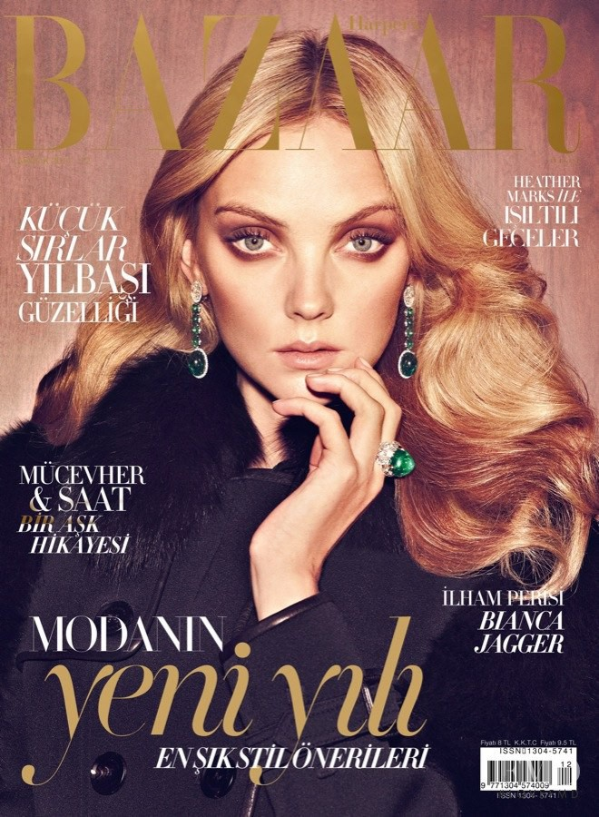 Heather Marks featured on the Harper\'s Bazaar Turkey cover from December 2011