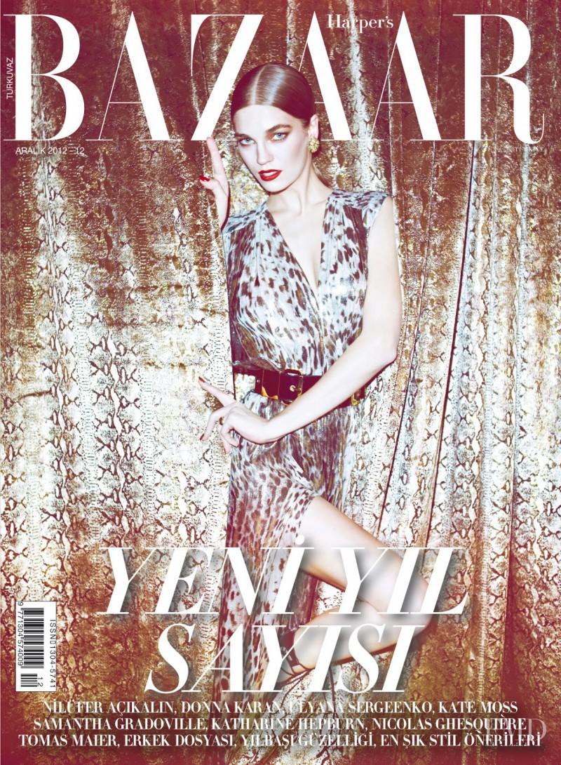 Samantha Gradoville featured on the Harper\'s Bazaar Turkey cover from December 2012
