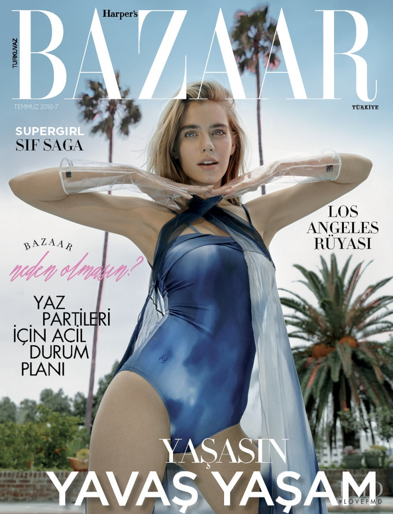 featured on the Harper\'s Bazaar Turkey cover from July 2018