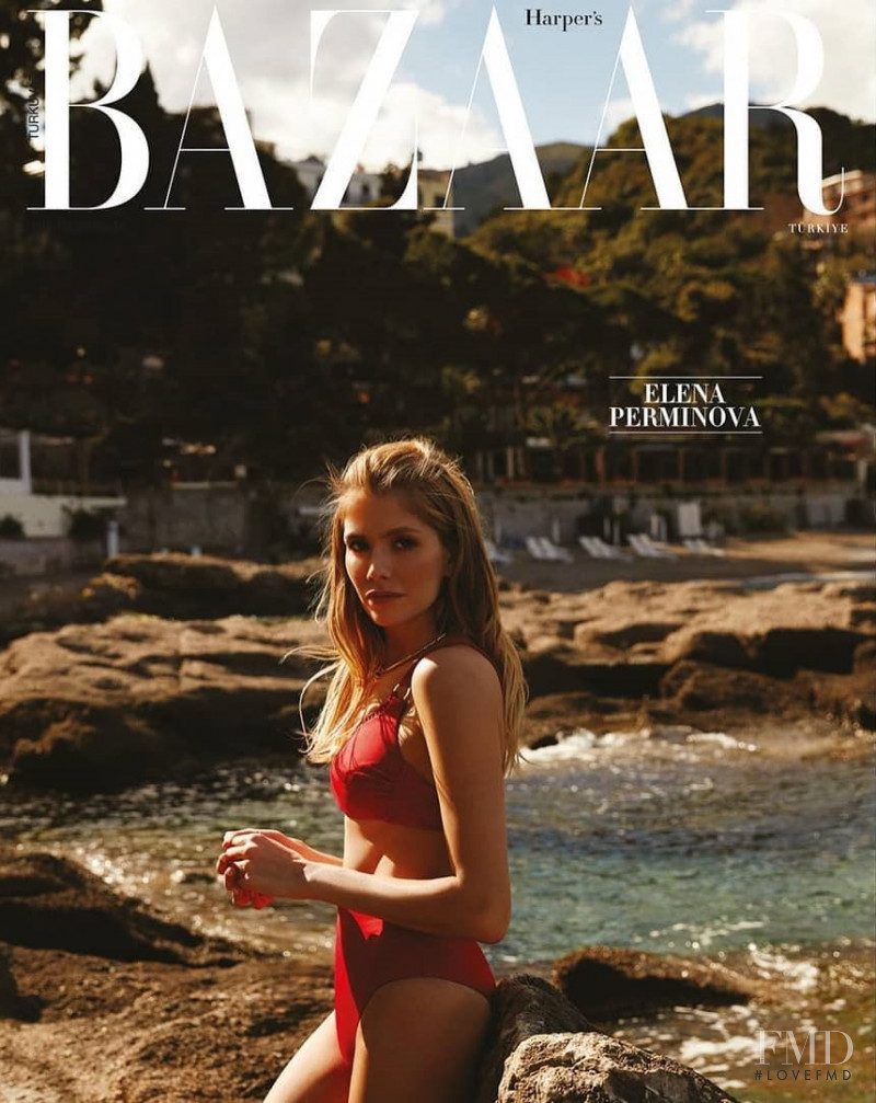Elena Perminova featured on the Harper\'s Bazaar Turkey cover from May 2019
