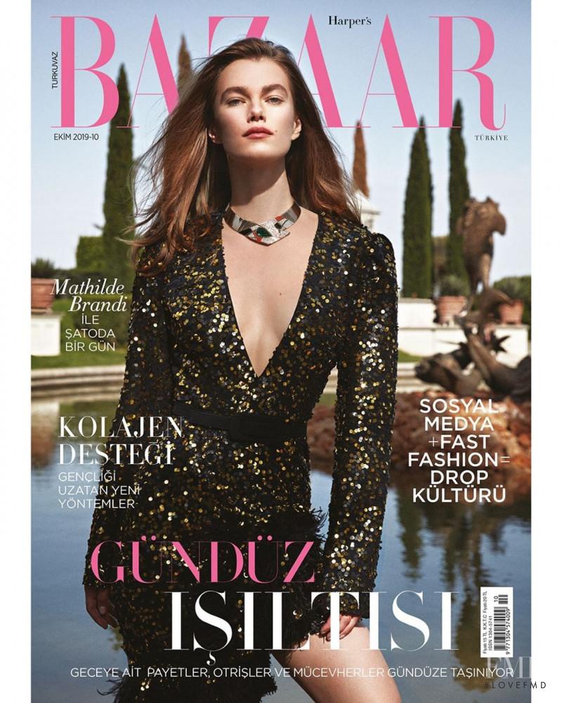 Mathilde Brandi featured on the Harper\'s Bazaar Turkey cover from October 2019