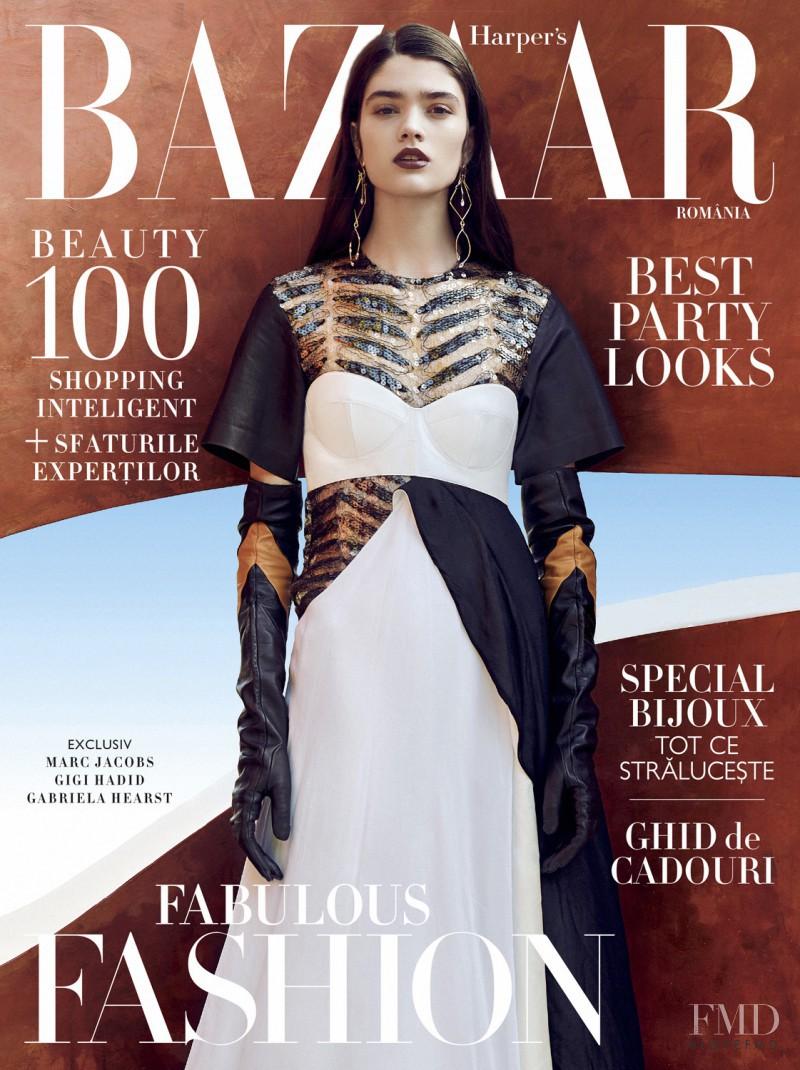 Alexandra Maria Micu featured on the Harper\'s Bazaar Romania cover from November 2016