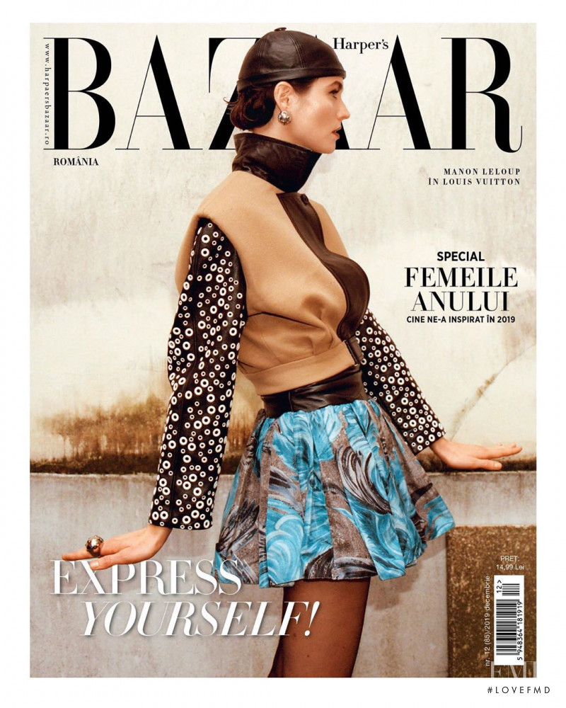 Manon Leloup featured on the Harper\'s Bazaar Romania cover from December 2019