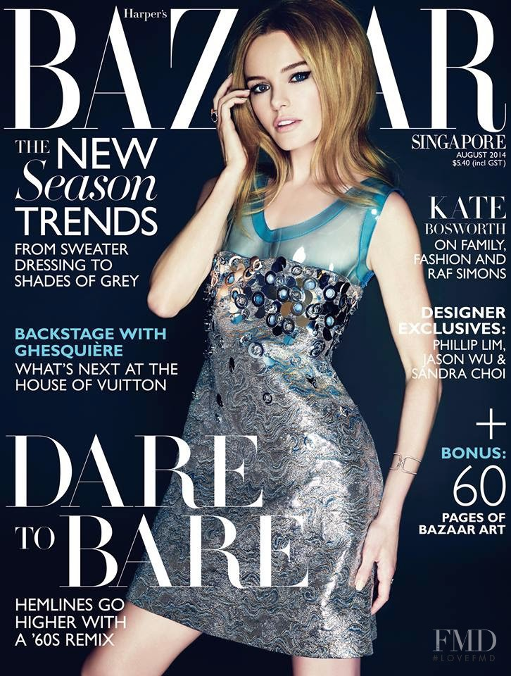 featured on the Harper\'s Bazaar Singapore cover from August 2014