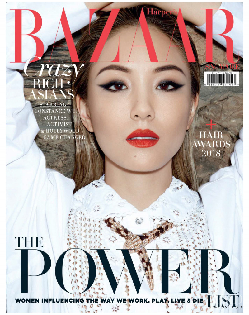 featured on the Harper\'s Bazaar Singapore cover from July 2018