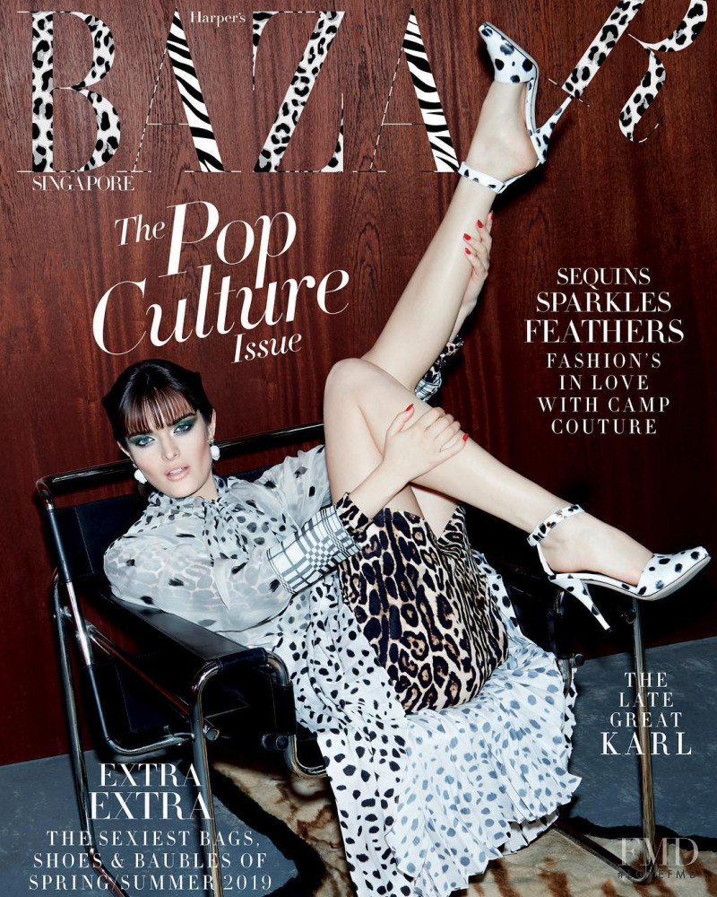 Sam Rollinson featured on the Harper\'s Bazaar Singapore cover from April 2019