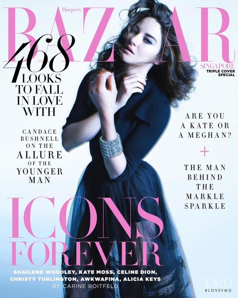 Shailene Woodley featured on the Harper\'s Bazaar Singapore cover from September 2019