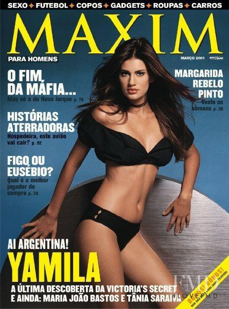 Yamila Diaz Rahi featured on the Maxim Portugal cover from March 2001