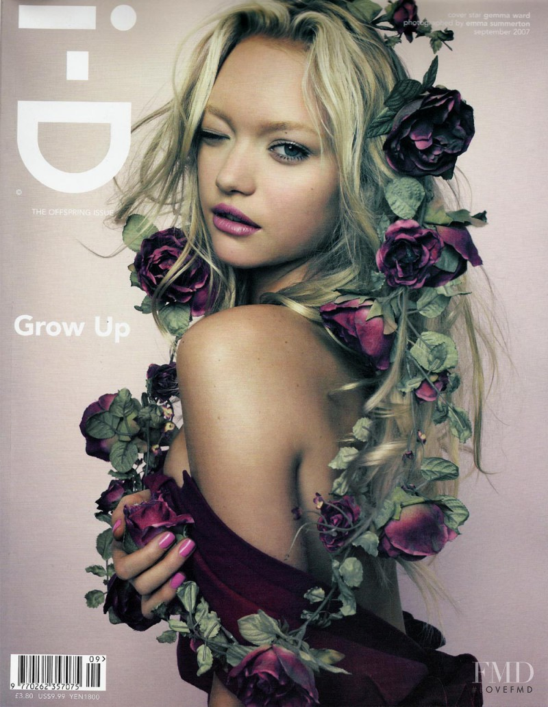 Gemma Ward featured on the i-D cover from September 2007