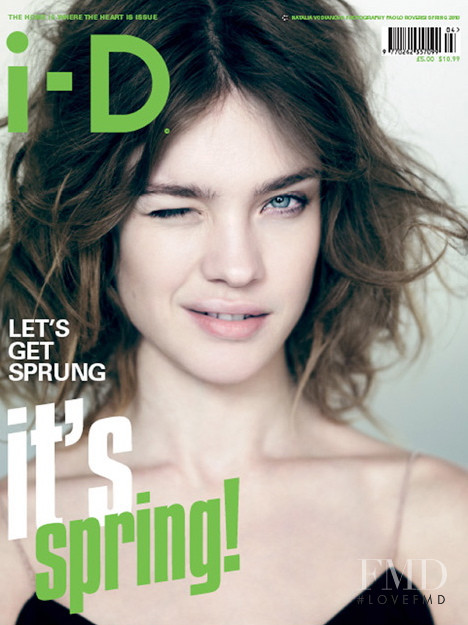 Natalia Vodianova featured on the i-D cover from February 2010
