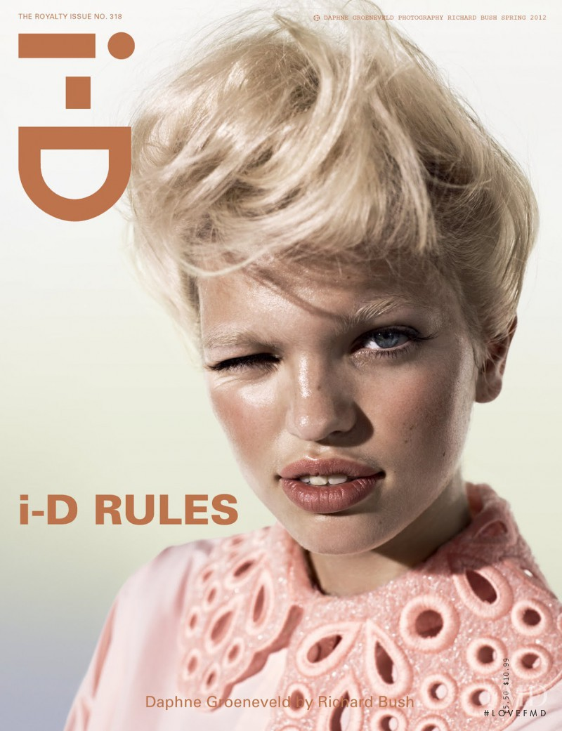 Daphne Groeneveld featured on the i-D cover from March 2012