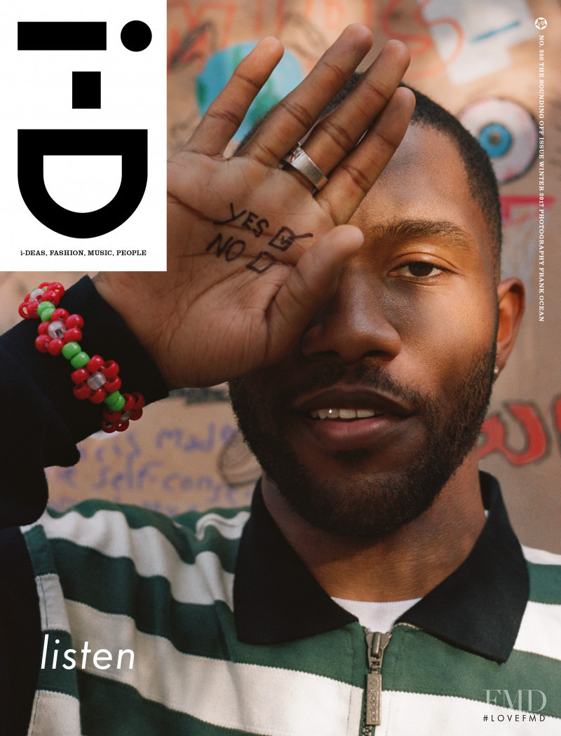 Frank Ocean featured on the i-D cover from December 2017